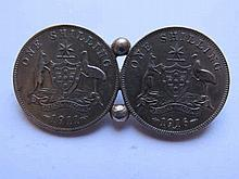 A George V 1911 and 1916 One Shilling Brooch