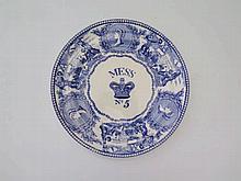 A Victorian Naval Mess Plate No.5, 24cm
