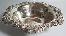 A Tiffany & Co. Sterling Silver Bowl with chrysant