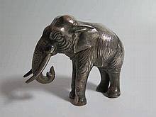 A White Metal Elephant, 8.5cm high