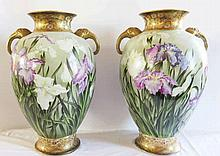 A Large Pair of Japanese Export Porcelain Vases wi