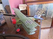 WWI Fokker Petrol Engined Tri-Plane