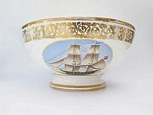 A Large Helsingør or Elsinore Porcelain Bowl deco