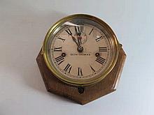 A Seth Thomas Ship's Clock with twin spring moveme