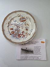 A M.S. Indrapoera Plate decorated with pheasants i