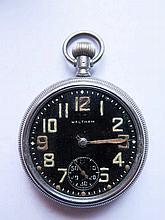 A WWII Waltham Military Pocket Watch 31239483, ret