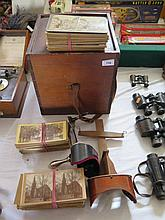 Two Stereoscope Viewers and Cards in box