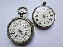 Silver Cased Ladies Pocket Watch and one other A/F