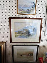 J. Hollands, Lake Como, watercolour, 25 x 16 cm, F