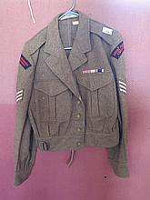 WWII Royal Marines Commando Jacket (moth holes to