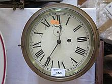 A Ship's Clock, 8in. dial