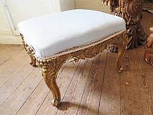 An 18th / 19th Century Roccoco Gilt Gesso Stool, 5