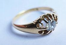An 18ct Gold Diamond Solitaire, c. .5ct