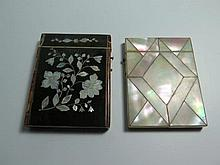 Two Nineteenth Century Card Cases