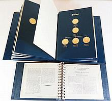 FRANKLIN MINT 'THE KINGS AND QUEENS COLLECTION' COMPLETE SET OF FORTY THREE IN OFFICIAL PRESENTATION BINDER AND WITH CERTIFICATES
