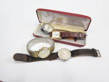 A Selection of Gent's Wristwatches including a Fond Acier Inoxydable 503491