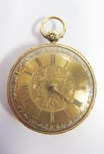 A Fine 18ct Gold Cased Open Dial Key Wound Pocket Watch, Birmingham 1836 _