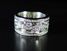 A Diamond Ring in 18ct white gold setting, size O, 17.5g
