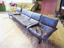 A Pieff _ Worcestershire _ Three Piece Tan Leather Suite including a three
