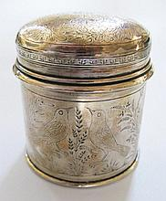 An Eastern Silver Canister finely decorated with