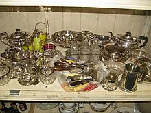 A Large Selection of Plated Ware