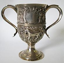 A George III Silver Two Handled Cup decorated with