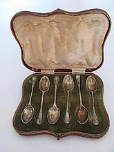 An Edward VII Silver Presentation Cased Set of Six