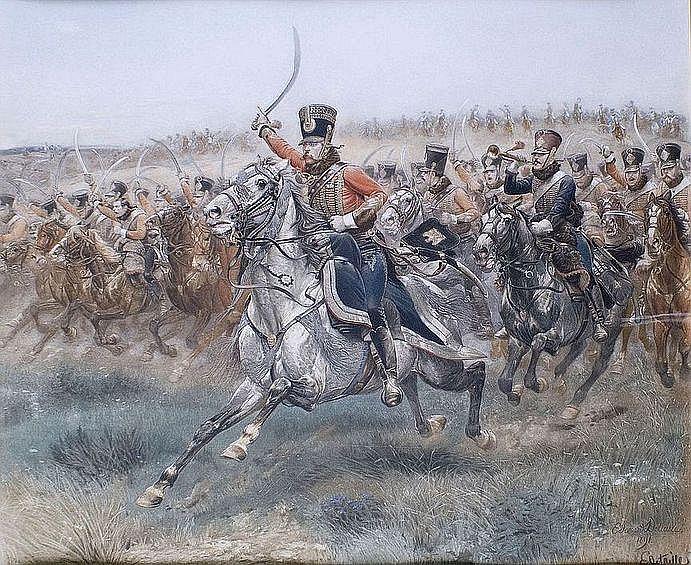 Édouard DETAILLE - 1848-1912 - CHARGE DU QUATRIEME
