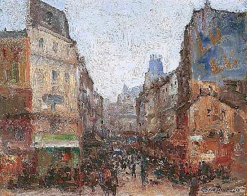 AMEGLIO Merio (1877-1970) PARIS, LA RUE LEPIC 1944