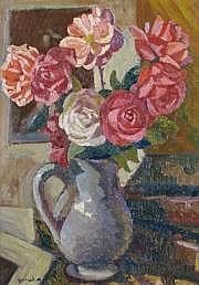 Maurice SAVREUX-1884-1971 VASE DE FLEURS. Huile