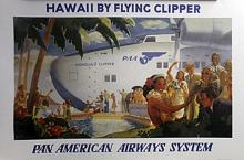 Print - Pan American Airways, Hawaii by Flying Clipper