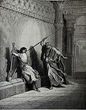 The Dore Bible Gallery pg. 31 - Saul and David