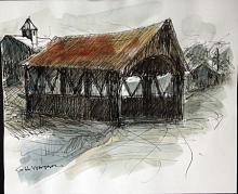 Wooden Bridge - Original by G.H. Watson