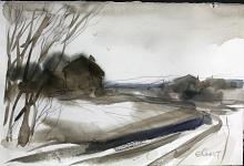 Original Watercolor by Elliot