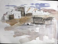 Original Ink & Watercolor by Weighorst