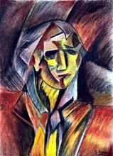 Portrait of Giulliani - Pastel on Paper - G. Braque