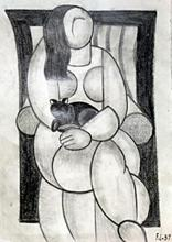 Woman with Cat 1937' - Fernand Leger