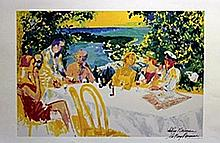 Table Conference  - Lithograph - Leroy Neiman