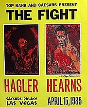 The Fight - Lithograph - Leroy Neiman