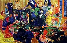 High Stakes - Lithograph - Leroy Neiman