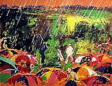 Golf in the Rain - Lithograph - Leroy Neiman