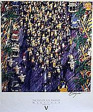 Los Angeles Marathon - Lithograph - Leroy Neiman