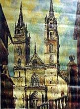 M. Ghaupi - Catedral de Basilca - Original Acrylic on Canvas