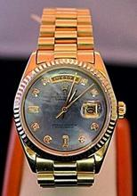 Fancy All Original 18kt Gold Rolex with Diamonds
