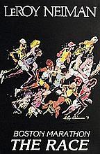 Boston Marathon - Lithograph - Leroy Neiman