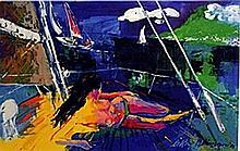 Swim Time - Lithograph - Leroy Neiman