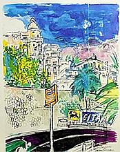 Speedway - Lithograph - Leroy Neiman