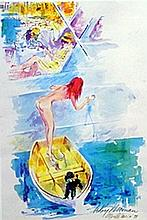 Over Board  - Lithograph - Leroy Neiman