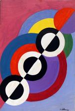 Composition 1933' - Oil on Paper - Robert Delaunay