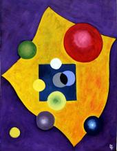 Oil Painting on Paper 1933 - Wassily Kandinsky